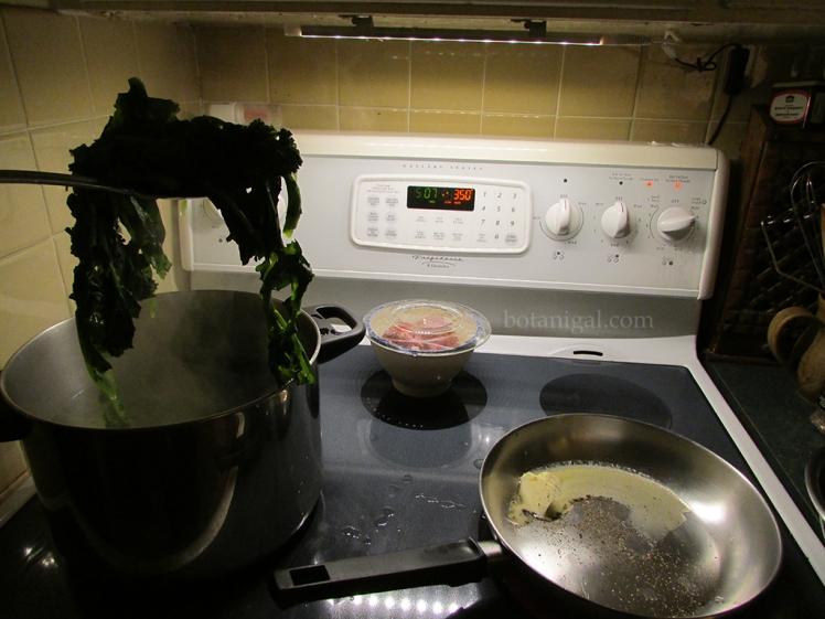 R.K. transfer boiled rapini to fry pan 026 wtm